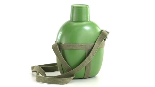 Chinese Military Surplus PLA Canteen Flask 360 View - image 9 from the video
