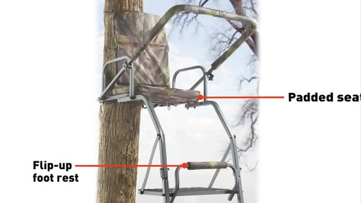 Guide Gear 16' Deluxe Ladder Tree Stand - image 5 from the video