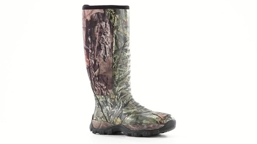 Guide Gear Men's Wood Creek Rubber Hunting Boots Waterproof 360 View - image 2 from the video