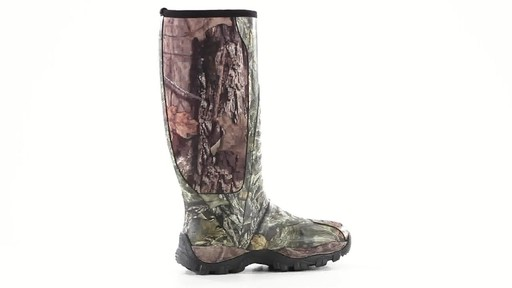 Guide Gear Men's Wood Creek Rubber Hunting Boots Waterproof 360 View - image 3 from the video