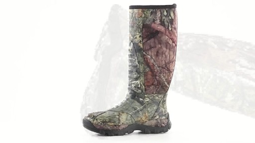 Guide Gear Men's Wood Creek Rubber Hunting Boots Waterproof 360 View - image 6 from the video