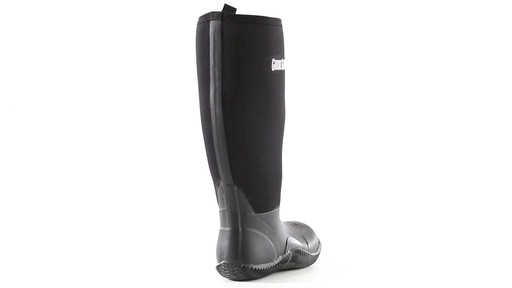 Guide Gear Men's High Bogger Waterproof Rubber Boots 360 View - image 2 from the video