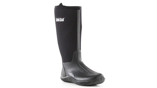Guide Gear Men's High Bogger Waterproof Rubber Boots 360 View - image 7 from the video