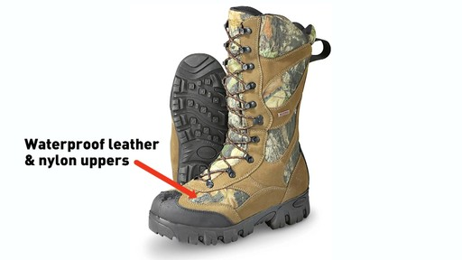 Guide Gear Giant Timber II Men's 1400 Gram Insulated Hunting Boots Waterproof Mossy Oak - image 3 from the video