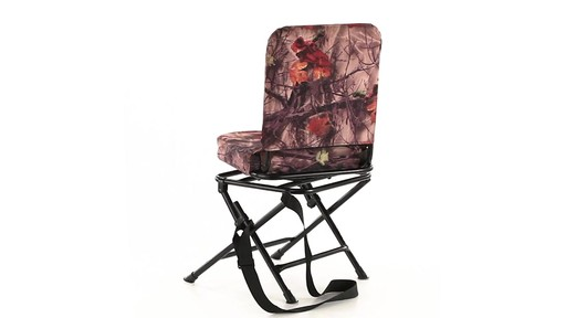 Guide Gear Camo Swivel Hunting Chair 360 View - image 4 from the video