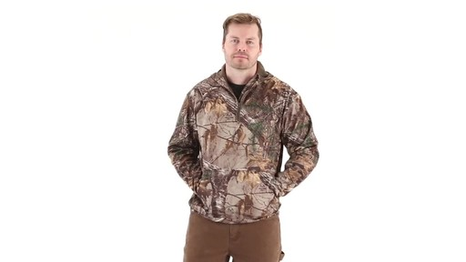 Guide Gear Men's Scent Control Quarter-Zip Hoodie 360 View - image 6 from the video
