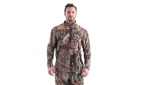 Guide Gear Men's Performance Hunting Long-Sleeve Quarter-Zip Shirt 360 View - image 10 from the video