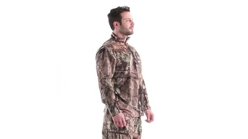 Guide Gear Men's Performance Hunting Long-Sleeve Quarter-Zip Shirt 360 View - image 2 from the video