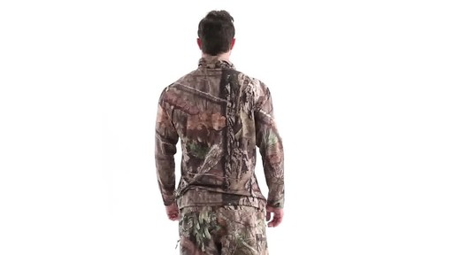 Guide Gear Men's Performance Hunting Long-Sleeve Quarter-Zip Shirt 360 View - image 5 from the video