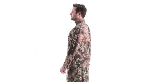 Guide Gear Men's Performance Hunting Long-Sleeve Quarter-Zip Shirt 360 View - image 7 from the video