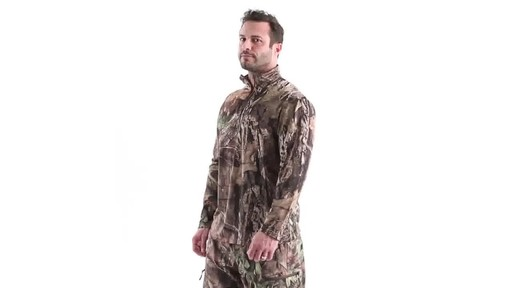 Guide Gear Men's Performance Hunting Long-Sleeve Quarter-Zip Shirt 360 View - image 9 from the video