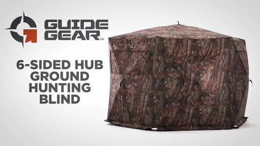 Guide Gear 6-Sided Hub Ground Hunting Blind - image 1 from the video