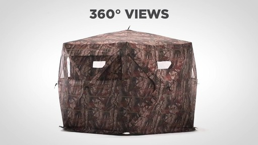 Guide Gear 6-Sided Hub Ground Hunting Blind - image 6 from the video