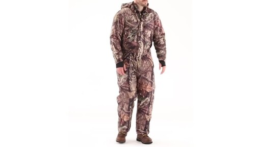 Guide Gear Men's Guide Dry Hunt Coveralls Waterproof Insulated 360 View - image 1 from the video
