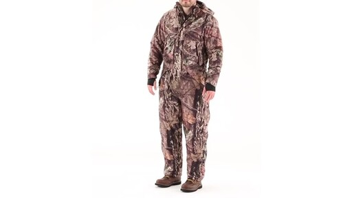 Guide Gear Men's Guide Dry Hunt Coveralls Waterproof Insulated 360 View - image 10 from the video