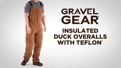 Gravel Gear Men's Insulated Duck Overalls with Teflon - image 1 from the video