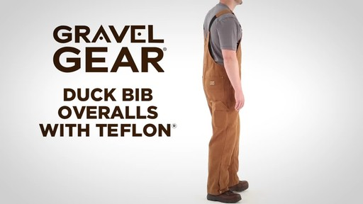 Gravel Gear Men's Duck Bib Overalls With Teflon - image 1 from the video