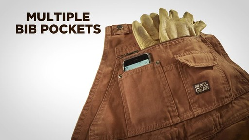 Gravel Gear Men's Duck Bib Overalls With Teflon - image 5 from the video