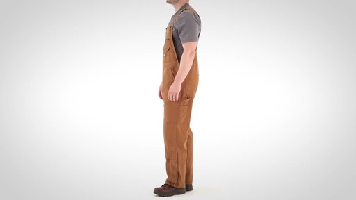 Gravel Gear Men's Duck Bib Overalls With Teflon - image 9 from the video