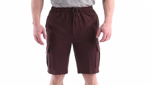 Guide Gear Men's Knit Cargo Shorts 360 View - image 1 from the video