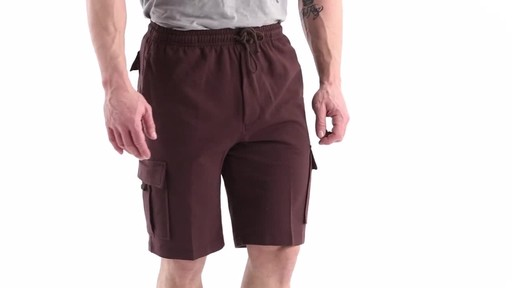 Guide Gear Men's Knit Cargo Shorts 360 View - image 2 from the video