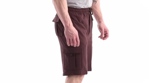 Guide Gear Men's Knit Cargo Shorts 360 View - image 3 from the video