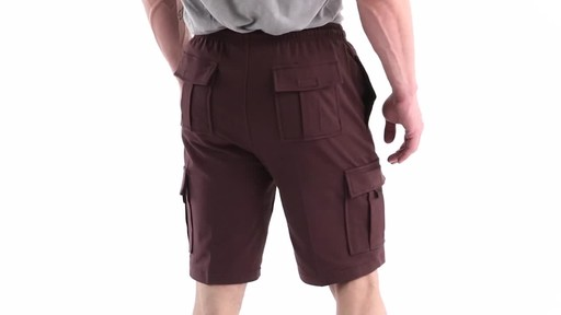 Guide Gear Men's Knit Cargo Shorts 360 View - image 5 from the video