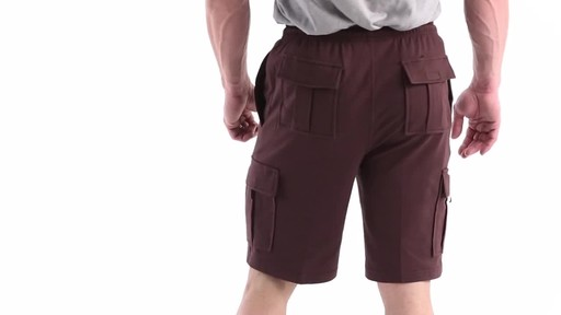 Guide Gear Men's Knit Cargo Shorts 360 View - image 6 from the video
