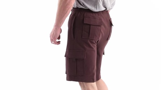 Guide Gear Men's Knit Cargo Shorts 360 View - image 7 from the video