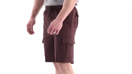 Guide Gear Men's Knit Cargo Shorts 360 View - image 8 from the video