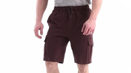Guide Gear Men's Knit Cargo Shorts 360 View - image 9 from the video