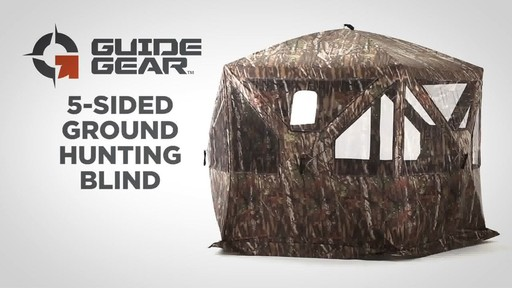 Guide Gear 5-Sided Ground Hunting Blind - image 1 from the video
