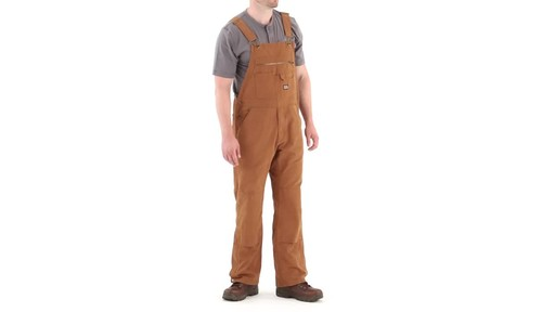 Gravel Gear Men's Duck Bib Overalls With Teflon 360 View - image 1 from the video