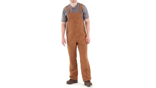 Gravel Gear Men's Duck Bib Overalls With Teflon 360 View - image 10 from the video