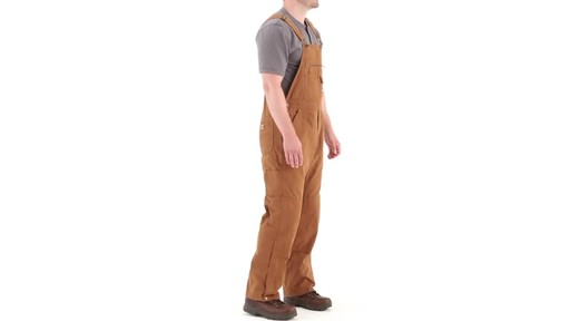 Gravel Gear Men's Duck Bib Overalls With Teflon 360 View - image 2 from the video
