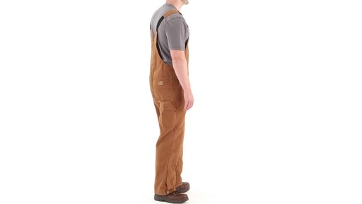 Gravel Gear Men's Duck Bib Overalls With Teflon 360 View - image 3 from the video