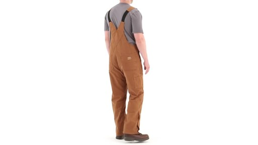 Gravel Gear Men's Duck Bib Overalls With Teflon 360 View - image 4 from the video