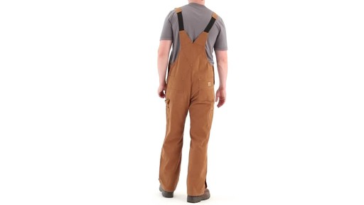 Gravel Gear Men's Duck Bib Overalls With Teflon 360 View - image 5 from the video