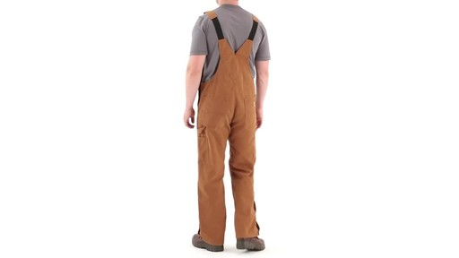 Gravel Gear Men's Duck Bib Overalls With Teflon 360 View - image 6 from the video