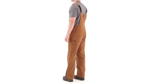 Gravel Gear Men's Duck Bib Overalls With Teflon 360 View - image 7 from the video