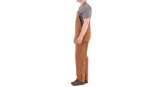 Gravel Gear Men's Duck Bib Overalls With Teflon 360 View - image 8 from the video