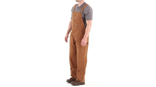 Gravel Gear Men's Duck Bib Overalls With Teflon 360 View - image 9 from the video