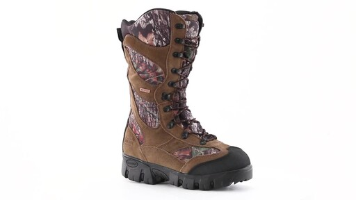 Guide Gear Giant Timber II Men's 1400 Gram Insulated Waterproof Hunting Boots Mossy Oak 360 View - image 1 from the video