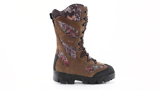 Guide Gear Giant Timber II Men's 1400 Gram Insulated Waterproof Hunting Boots Mossy Oak 360 View - image 2 from the video