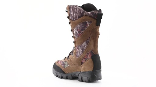 Guide Gear Giant Timber II Men's 1400 Gram Insulated Waterproof Hunting Boots Mossy Oak 360 View - image 6 from the video