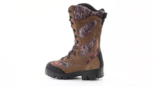 Guide Gear Giant Timber II Men's 1400 Gram Insulated Waterproof Hunting Boots Mossy Oak 360 View - image 7 from the video