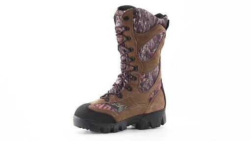 Guide Gear Giant Timber II Men's 1400 Gram Insulated Waterproof Hunting Boots Mossy Oak 360 View - image 8 from the video