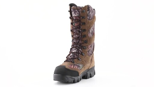 Guide Gear Giant Timber II Men's 1400 Gram Insulated Waterproof Hunting Boots Mossy Oak 360 View - image 9 from the video