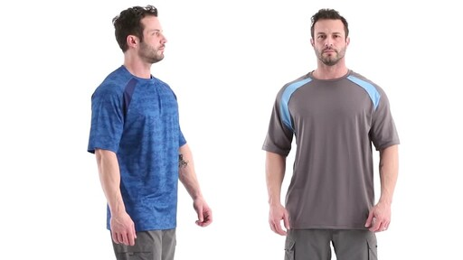 Guide Gear Men's Performance Fishing Short Sleeve Shirt 360 View - image 2 from the video