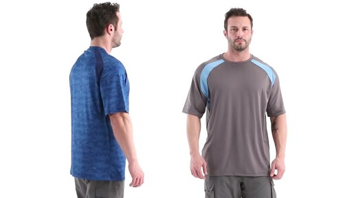 Guide Gear Men's Performance Fishing Short Sleeve Shirt 360 View - image 3 from the video